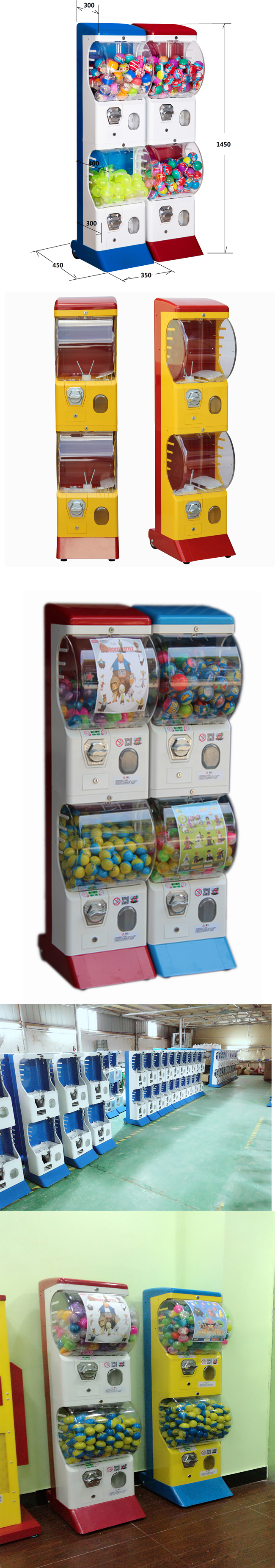 "2"" - 3"" Tomy Gacha Toy Capsule Machine Multifunctional With CE Certification"