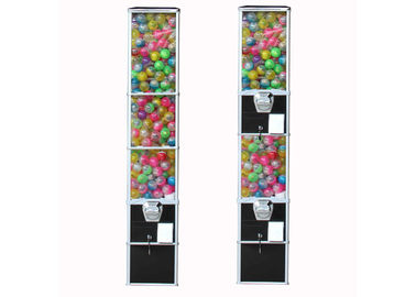3 Types Wheel Capsule Vending Machine tall 6 coins metal for exhibition show