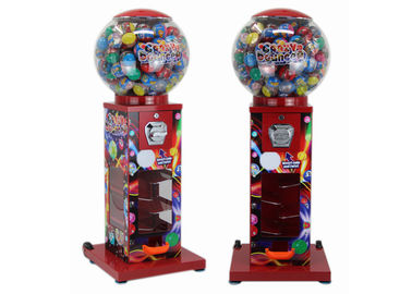 Globe Capsule Vending Machine 40*40*116CM 1-6 Coins Four Feet Two Wheels