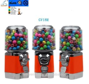 30*30*48CM Gumball candy machine 1-4 coins Full Auto vending with stand
