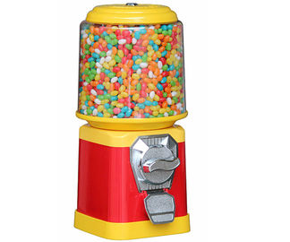 Yellow And Blue Coin Operated Candy Machine Fully Automatic 21*21*45CM