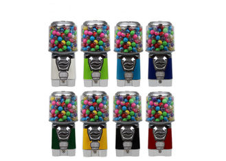 kids gumball round vending machine white 6 coins metal PC 3.6kgs 46cm for mall