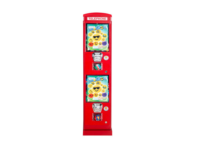 2 coin slot  Telephone Capsule Vending Machine Coin - Mech 28*28*130CM