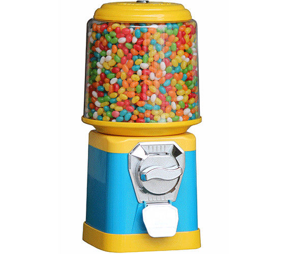 coin mech 1~6 coins operated 18 inch hight colorful candy vending machine
