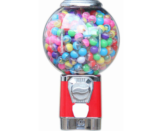 18 inch 1~6 coins operated samll colorful  funny  bulk candy for gumball machine