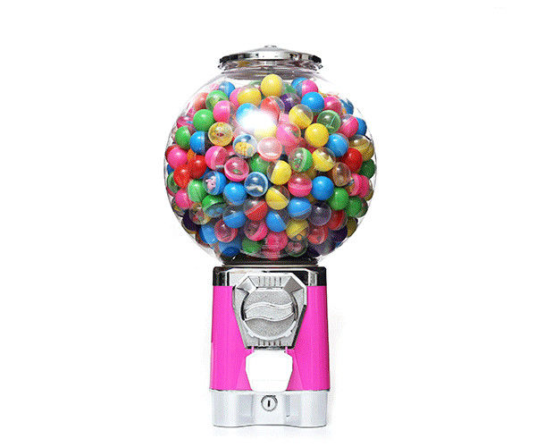 Pink Color Accept 1''-1.4'' Gumball Capsule  warranty 1 year gumball vending machine