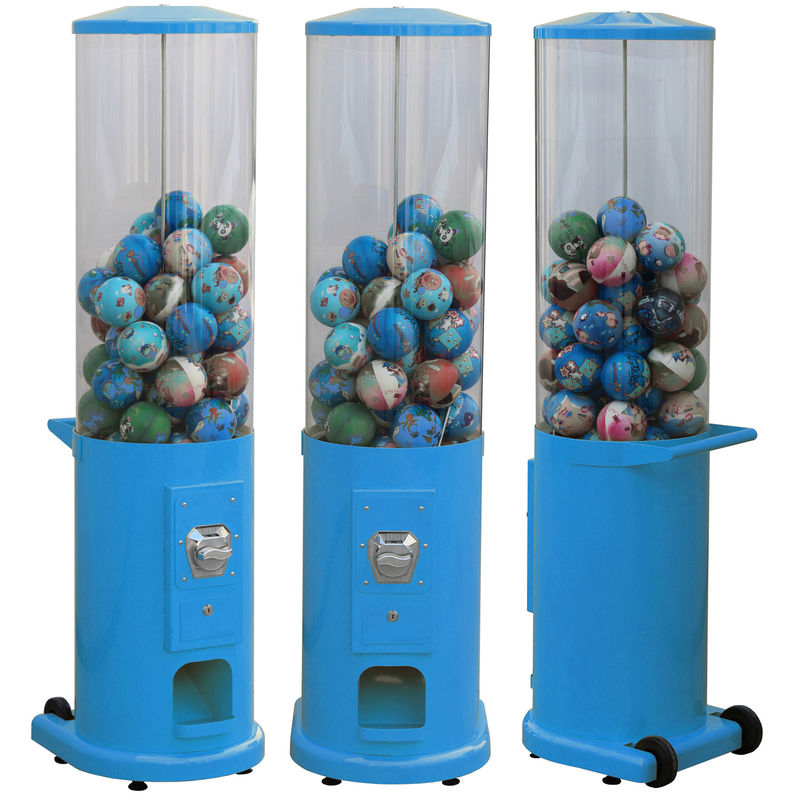 Metal Base Coin Operated Gumball Machine 44*38*146CM Customized Color