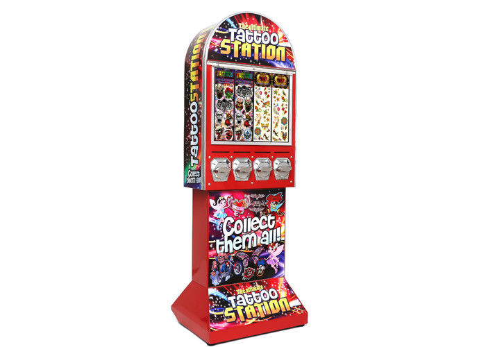 Sticker vending tattoos machines 142cm 53kgs coloful metal PC for video arcade